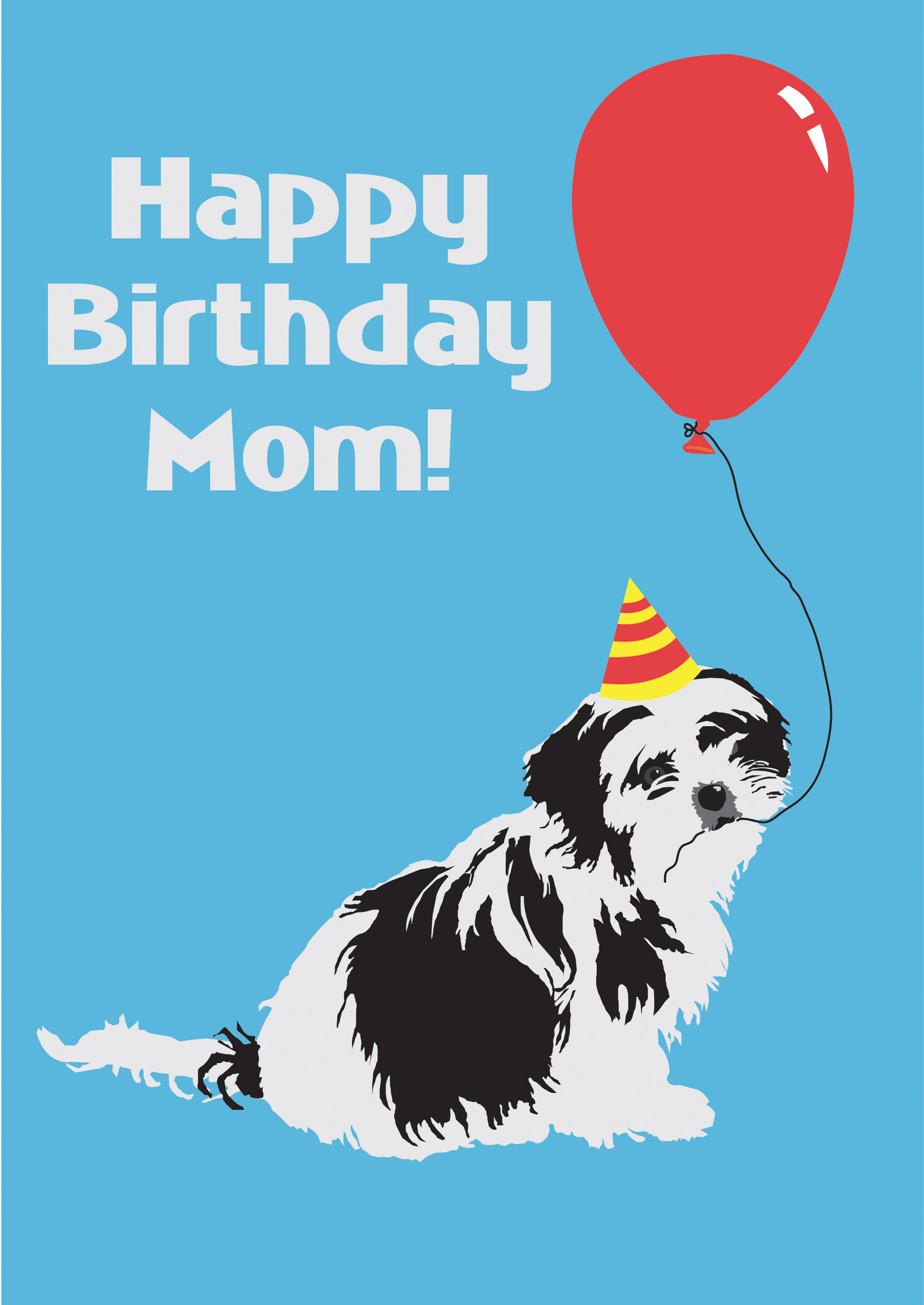 90 Birthday Card From Dog To Mom